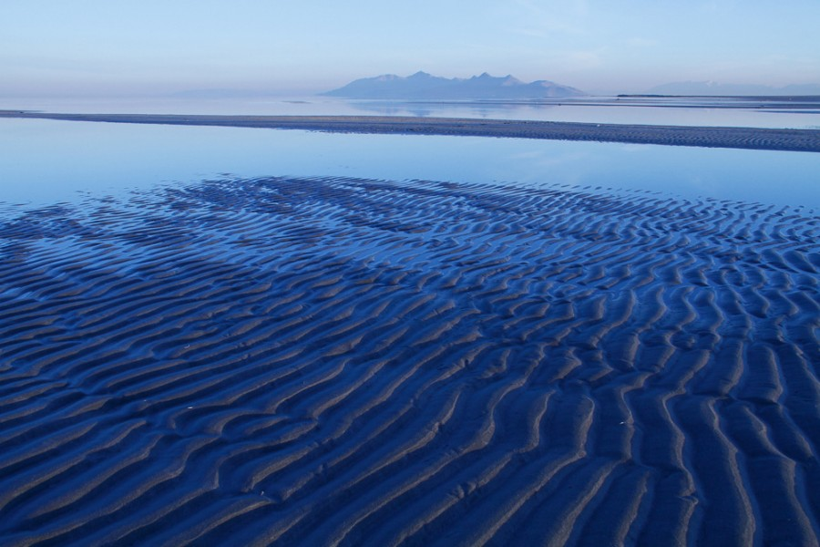 Sand ripples on the Great Salt Lake