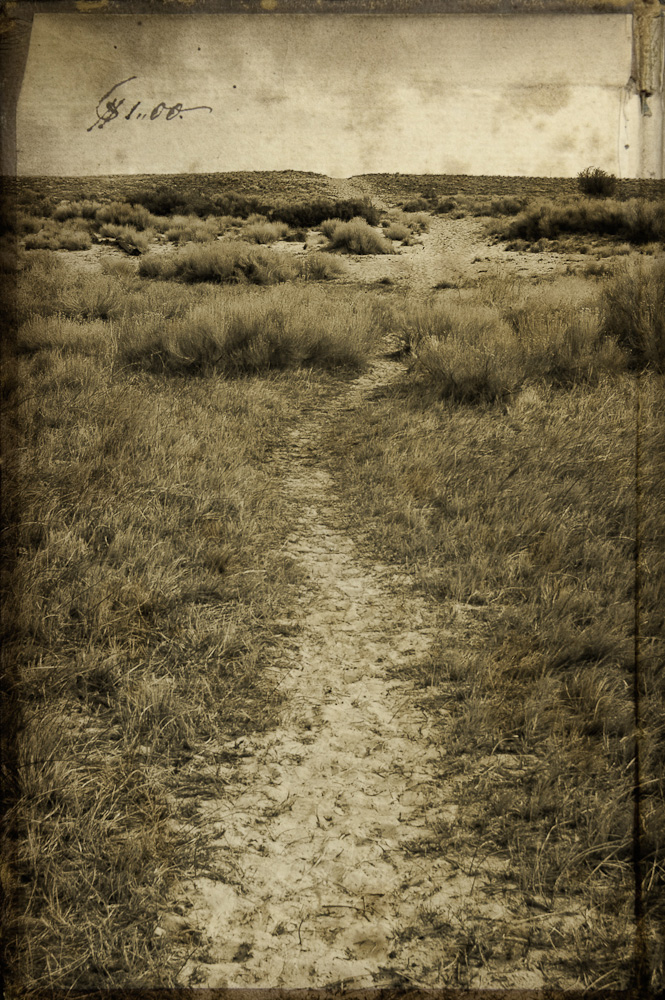 Trail to the beach on Antelope Island